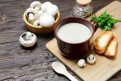 Пюре супа гриба champignon Стоковое Изображение RF