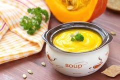 Пюре супа тыквы Стоковая Фотография