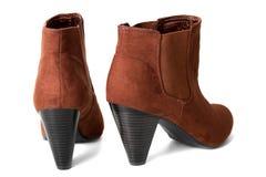 пятка ботинок коричневая высокая Стоковое Фото