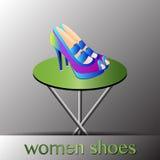 Пятки ботинок женщин высокие Стоковое Изображение RF