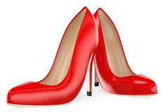 пятки красного цвета 3D Способ иллюстрация штока