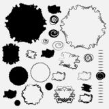 Пятнает отрицательные космосы в черно-белом в изоляции стоковые изображения rf