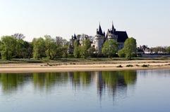 Пятнайте замок Луары sur стоковое изображение rf