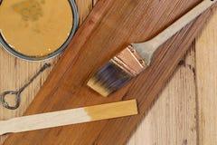Пятнающ естественный кедр деревянный Стоковое Фото