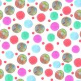 Пятна безшовной картины красочные покрасили pensils цвета иллюстрация вектора
