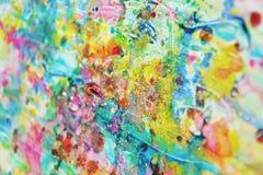 Пятна золота голубые розовые, пастельная яркая краска акварели, красочные оттенки Стоковые Изображения RF