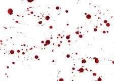 Пятна и брызгают крови Стоковая Фотография
