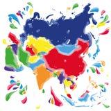 Пятна и помарки с Азией Стоковое Фото