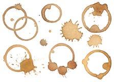 Пятна и splatters кофе Стоковое фото RF