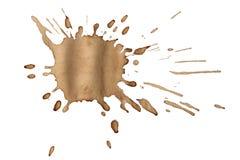 Пятна кофе изолированные на белизне Стоковое Изображение