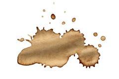 Пятна кофе изолированные на белизне Стоковое фото RF