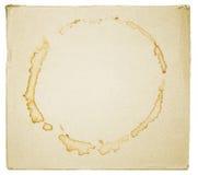 Пятна кофе или чая на картоне Стоковая Фотография RF