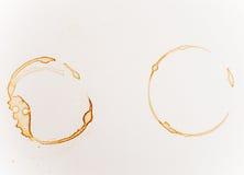 Пятна кофе на белой предпосылке Стоковое Изображение RF