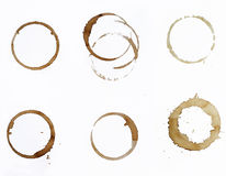 Пятна кофе Стоковая Фотография RF