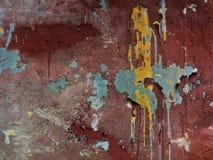 Пятна краски масла на старой стене. Предпосылка. Стоковые Фотографии RF