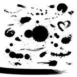 пятна краски grunge установленные Стоковое Изображение