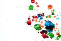 Пятна цвета чернил Стоковые Изображения