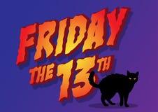 Пятница 13th бесплатная иллюстрация