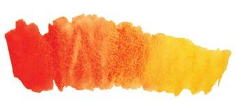 Пятно акварели изолированное на белой предпосылке Стоковое фото RF