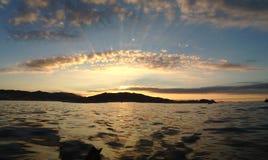 Пятно захода солнца моря Стоковые Фото