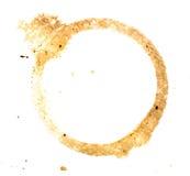 Пятно кольца кофейной чашки Стоковые Изображения RF
