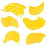 Пятно краски масла изолированное на белизне Стоковые Изображения