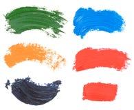 Пятно краски масла изолированное на белизне Стоковая Фотография