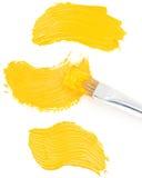 Пятно краски масла на белизне Стоковая Фотография