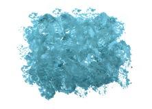 Пятно краски масла в сини на белой изолированной предпосылке Стоковое Изображение RF