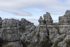 Пятно природы torcal Antequera в провинции Малаги, Andaluci Стоковые Фотографии RF