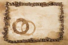 пятно рамки кофе фасоли Стоковое Фото