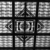 Пятно стеклянное Hoboken Termianl Abstarct черно-белое стоковое фото rf