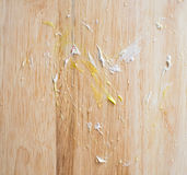 Пятно торта на деревянном Стоковые Изображения RF
