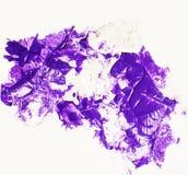 Пятно фиолетовой белой краски Стоковое Фото