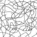 пятой овцы спрятанные игрой Стоковая Фотография