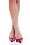 пяток высокий ног красный цвет длиной Стоковое фото RF