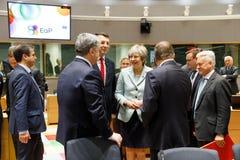 Пятый восточный саммит партнерства в Брюсселе стоковые фотографии rf