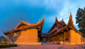 Пятый двор на виске литературы или Van Mieu в Ханое Построенный в 1070 для того чтобы удостоить Конфуция и в наше время отпраздно стоковое изображение rf