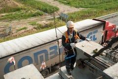 Пядь моста работника mouning Стоковые Изображения