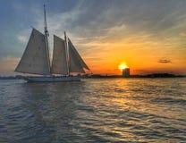 Плавание Солнця стоковое фото rf