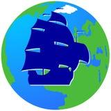 Плавание ship-9 Стоковые Изображения