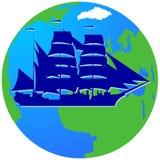 Плавание ship-7 Стоковое Изображение
