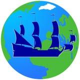 Плавание ship-2 Стоковая Фотография