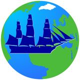 Плавание ship-13 Стоковое Изображение RF