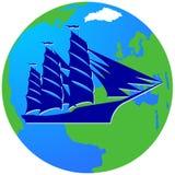 Плавание ship-16 Стоковое Изображение
