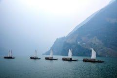 Плавание Zixi цепи рта ущелья Хубэй Badong Рекы Янцзы Wu Стоковая Фотография