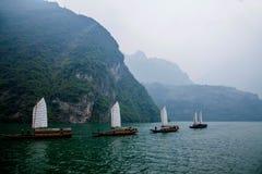 Плавание Zixi цепи рта ущелья Хубэй Badong Рекы Янцзы Wu Стоковые Фото