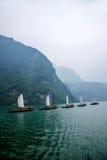 Плавание Zixi цепи рта ущелья Хубэй Badong Рекы Янцзы Wu Стоковое Изображение