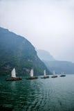 Плавание Zixi цепи рта ущелья Хубэй Badong Рекы Янцзы Wu Стоковые Изображения