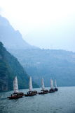 Плавание Zixi цепи рта ущелья Хубэй Badong Рекы Янцзы Wu Стоковые Фотографии RF